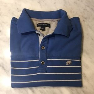Banana Republic blue striped polo